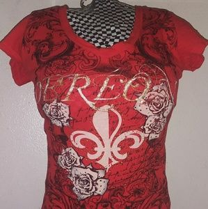 Dereon Red Stylish Tee